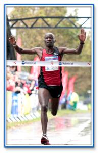 Winner crossing finish line