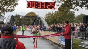 a photo of the results for the Admiral Swansea Bay 10k